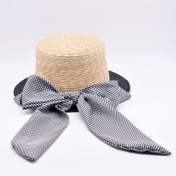Шляпа канотье Becki двухцветное