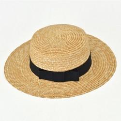 Солом'яний капелюх канотьє Boater