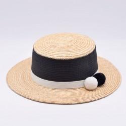 Соломенная шляпа канотье Miranda